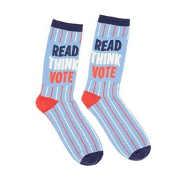 Out Of Print Socks (Unisex) - Read, Think, Vote (Small)