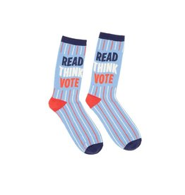 Socks (Unisex) - Read, Think, Vote (Small)