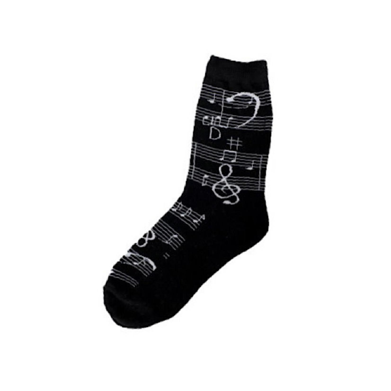 Socks (Womens) - Music Notes