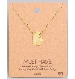 Fame Accessories Necklace - Michigan (Gold)