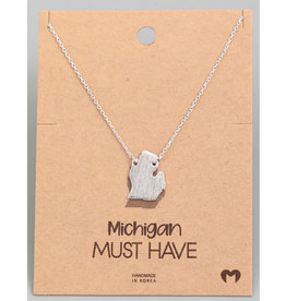 Fame Accessories Necklace - Michigan (Silver)