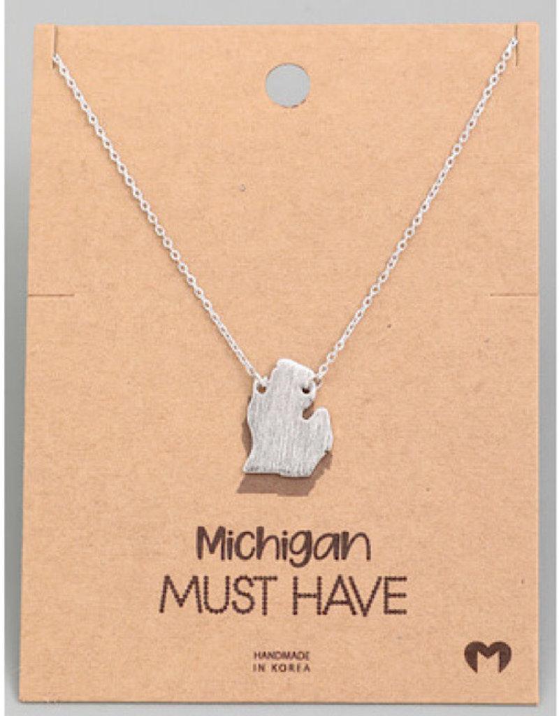 Fame Accessories Necklace - Michigan (Silver)