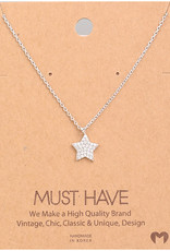 Fame Accessories Necklace - Star (Silver)
