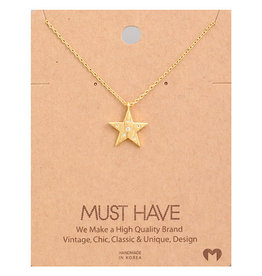 Necklace - Star (Gold)