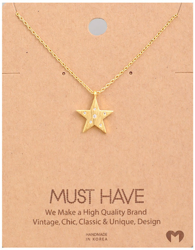 Fame Accessories Necklace - Star (Gold)