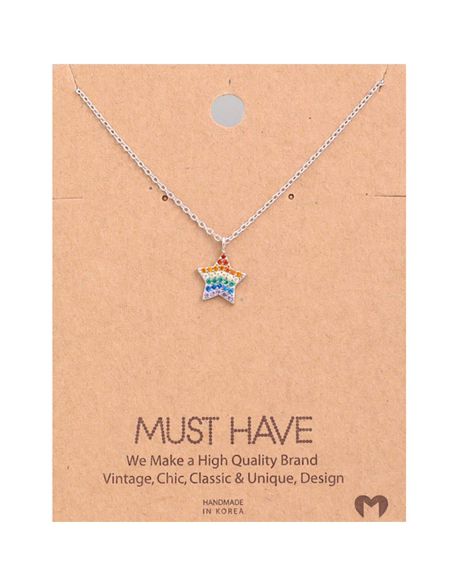 Necklace - Rainbow Star (Silver)