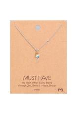 Necklace - Studded Rainbow Lighting (Silver)