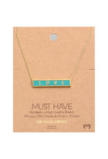 Necklace - Love Bar (Gold)