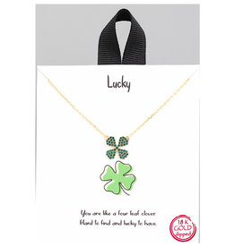 Fame Accessories Necklace - Four Leaf Clover (Gold)
