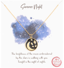 Fame Accessories Necklace - Summer Night Coin (Gold)