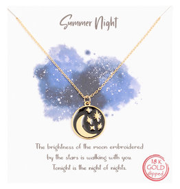 Necklace - Summer Night Coin (Gold)