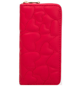 Fame Accessories Wallet - Quilted Hearts (Red)