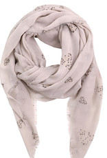 Fame Accessories Scarf - Star Dotted Heart (Grey)