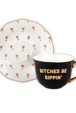 Creative Brands Tea Cup - Bitches Be Sippin