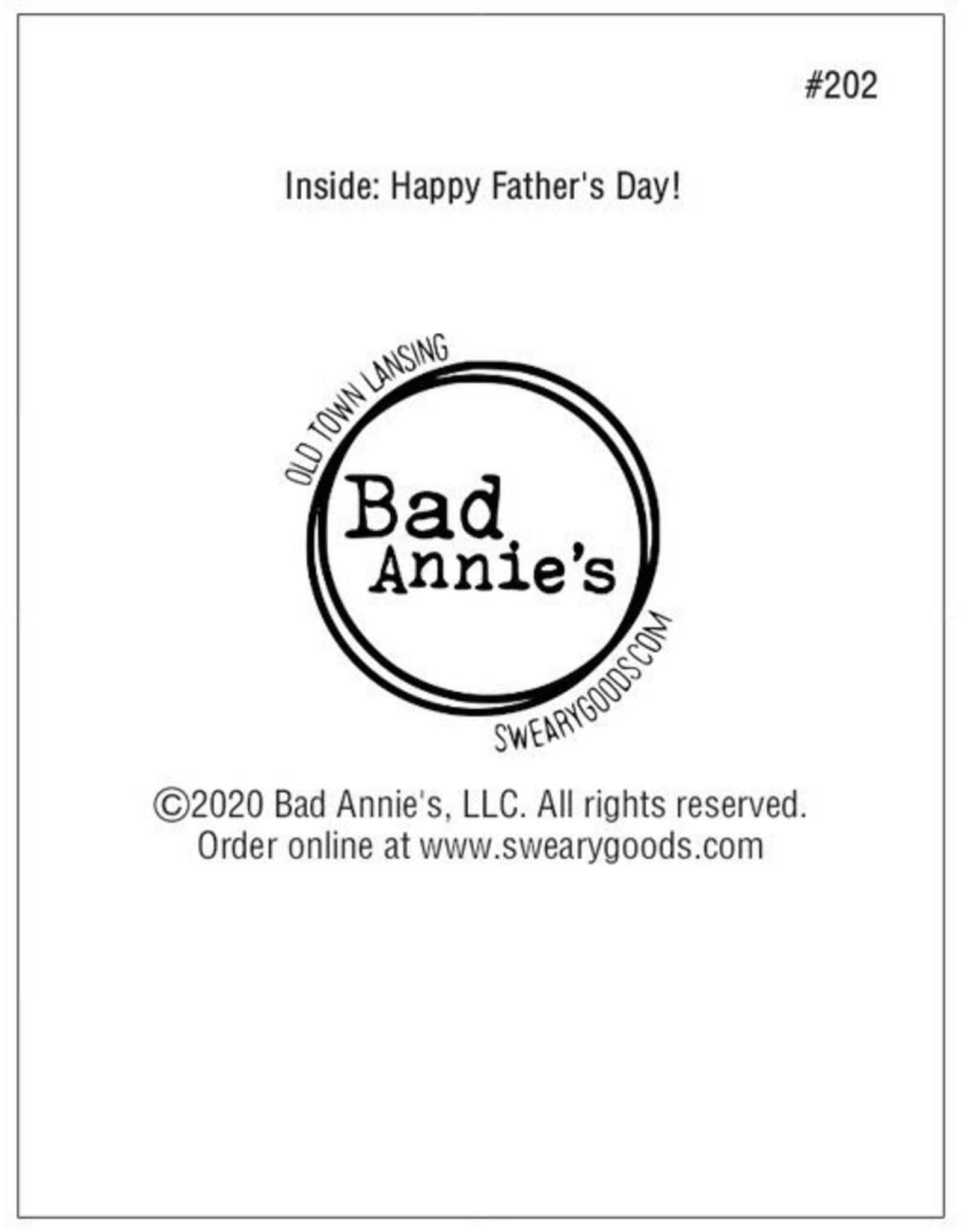 Card #202 - Fucked It Up With Kids, Happy Fathers Day