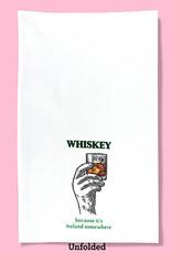 Dish Towel (Premium) - Whiskey Because It's Ireland Somewhere