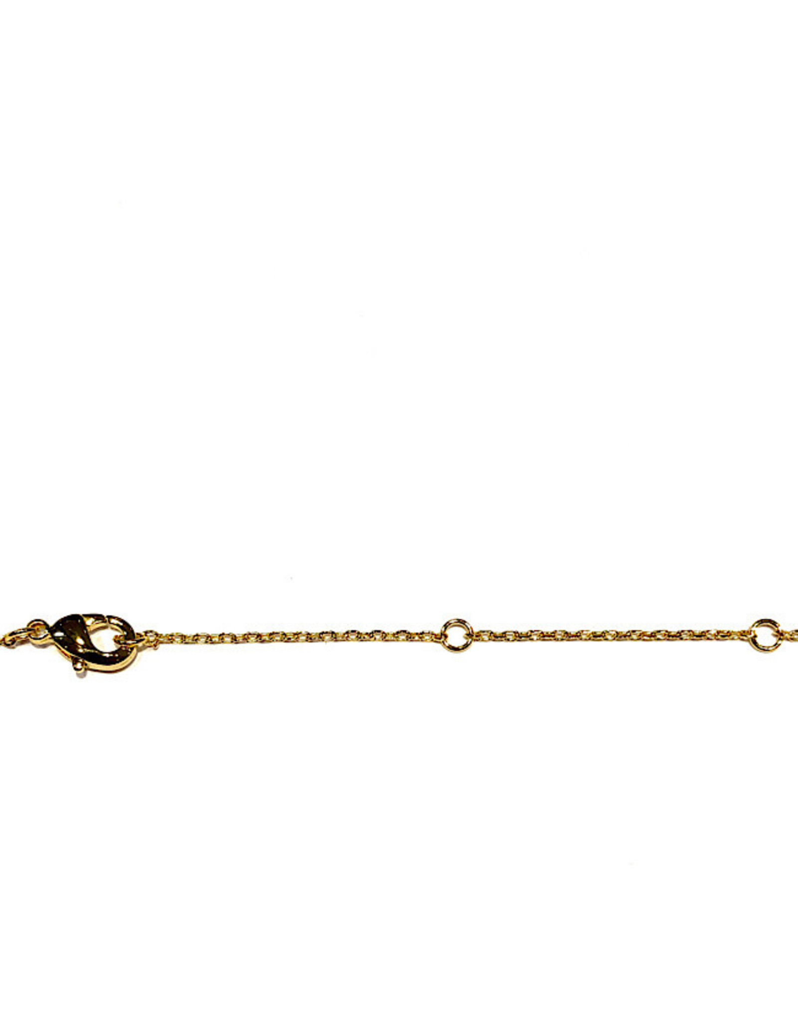 """Necklace - Fuck (Gold)(16""""+2"""" Ext)"""