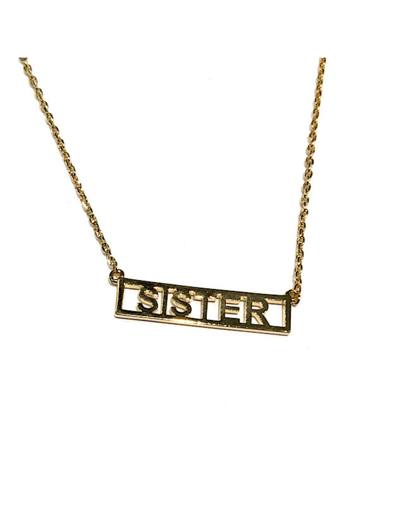 """Necklace - Sister (Gold)(16""""+2"""" Ext)"""