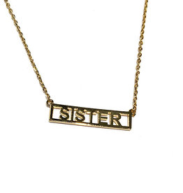 "Necklace - Sister (Gold)(16""+2"" Ext)"
