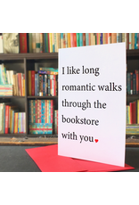 Card - Long Romantic Walks Through The Bookstore