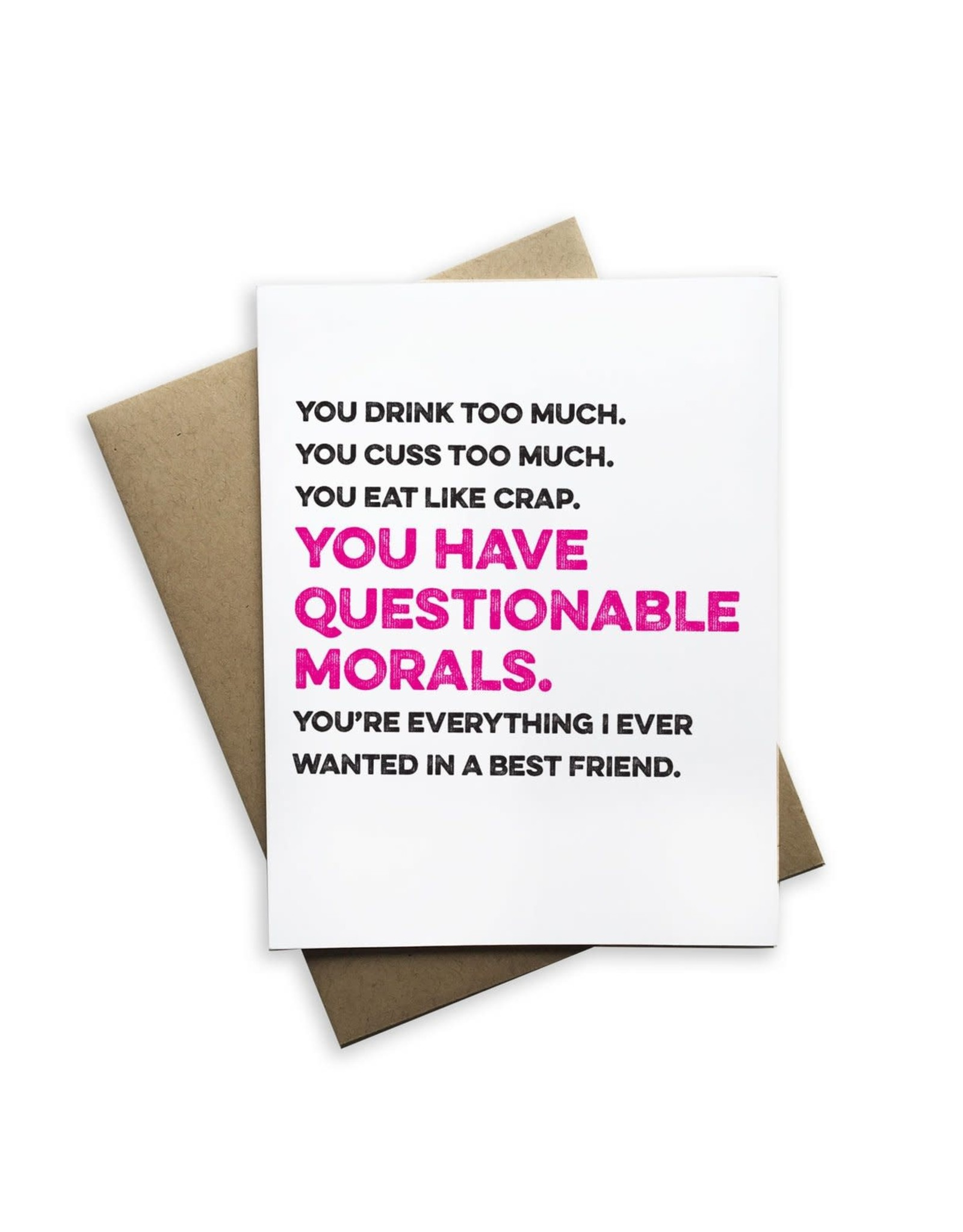Card - You Have Questionable Morals
