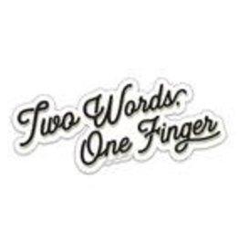 Tiramisu Paperie Sticker - Two Words One Finger