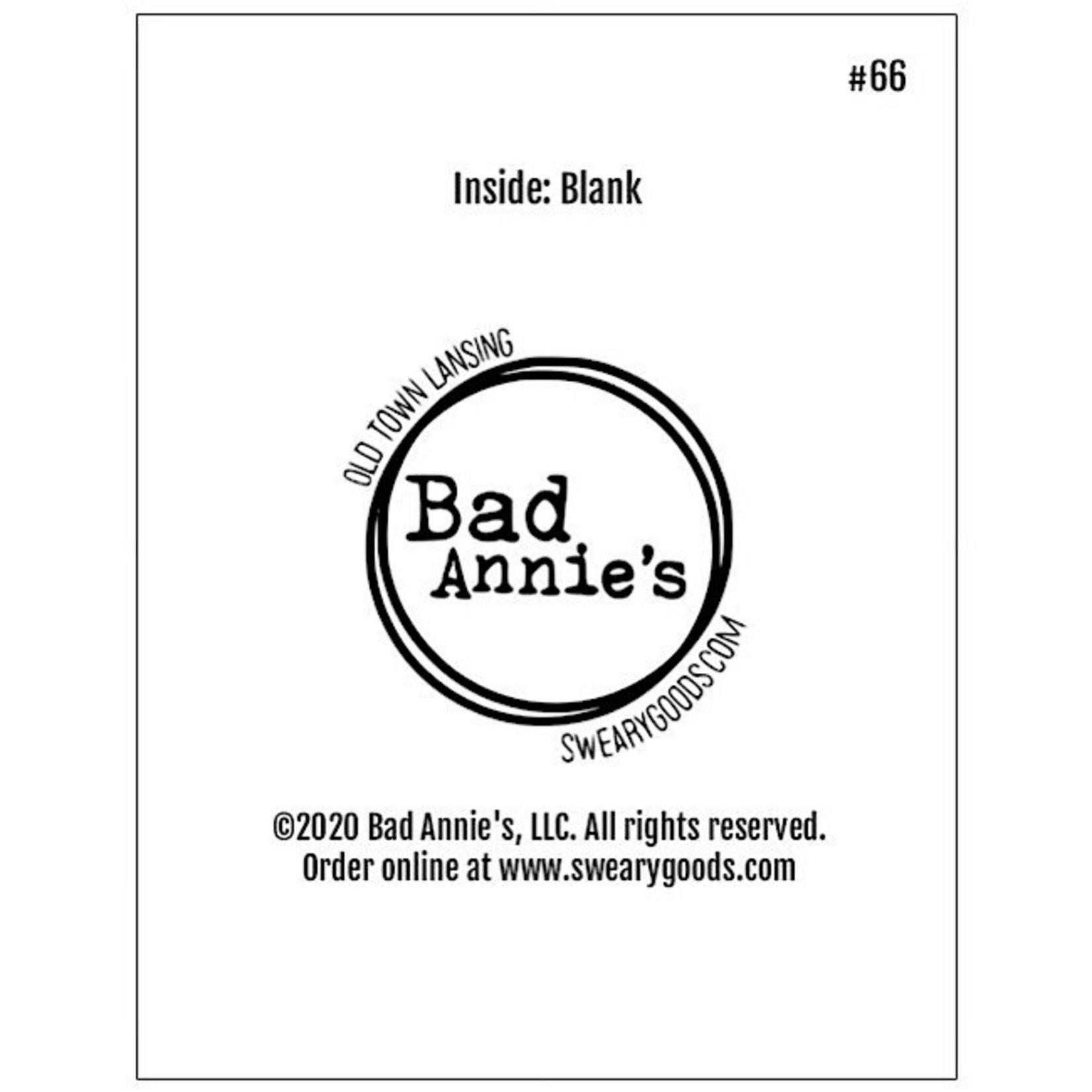 Bad Annie's Card #066 - Clutch My Pearls