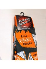 Socks (Unisex) - Read Banned Books - book in flames