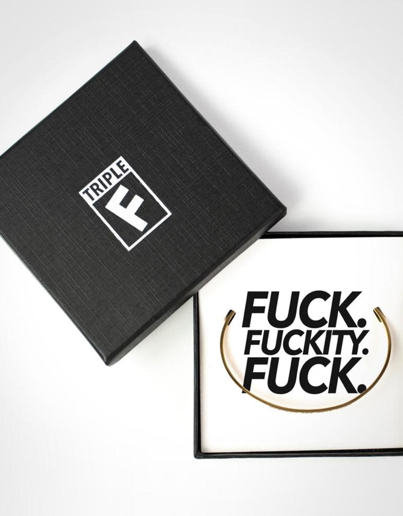 Bracelet - Fuck Fuckity Fuck (Gold)