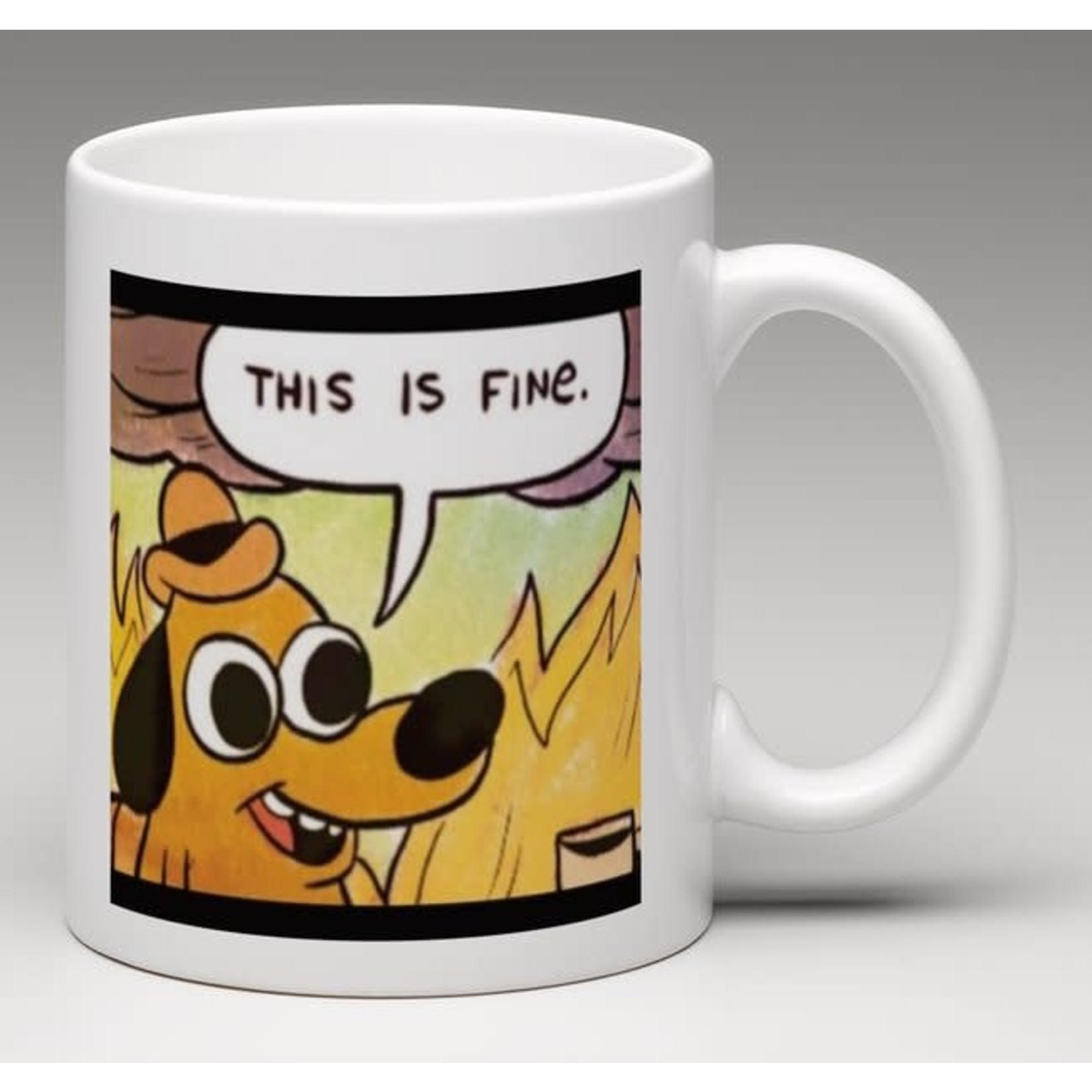 Bad Annie's Mug - Scream inside your heart - This Is Fine