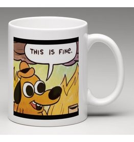 Mug - Scream inside your heart - This Is Fine