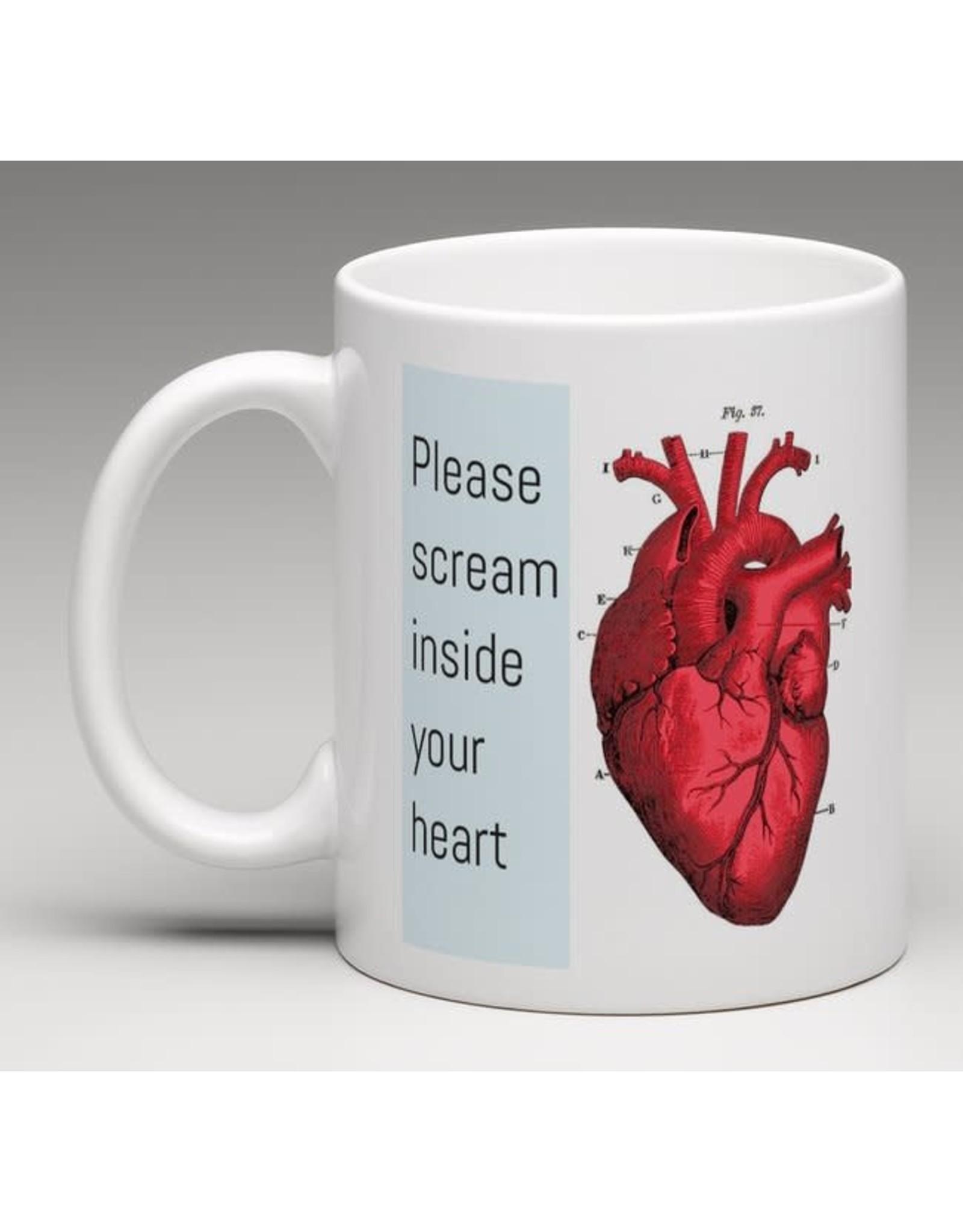 Mug - Scream inside your heart - This Is Fine