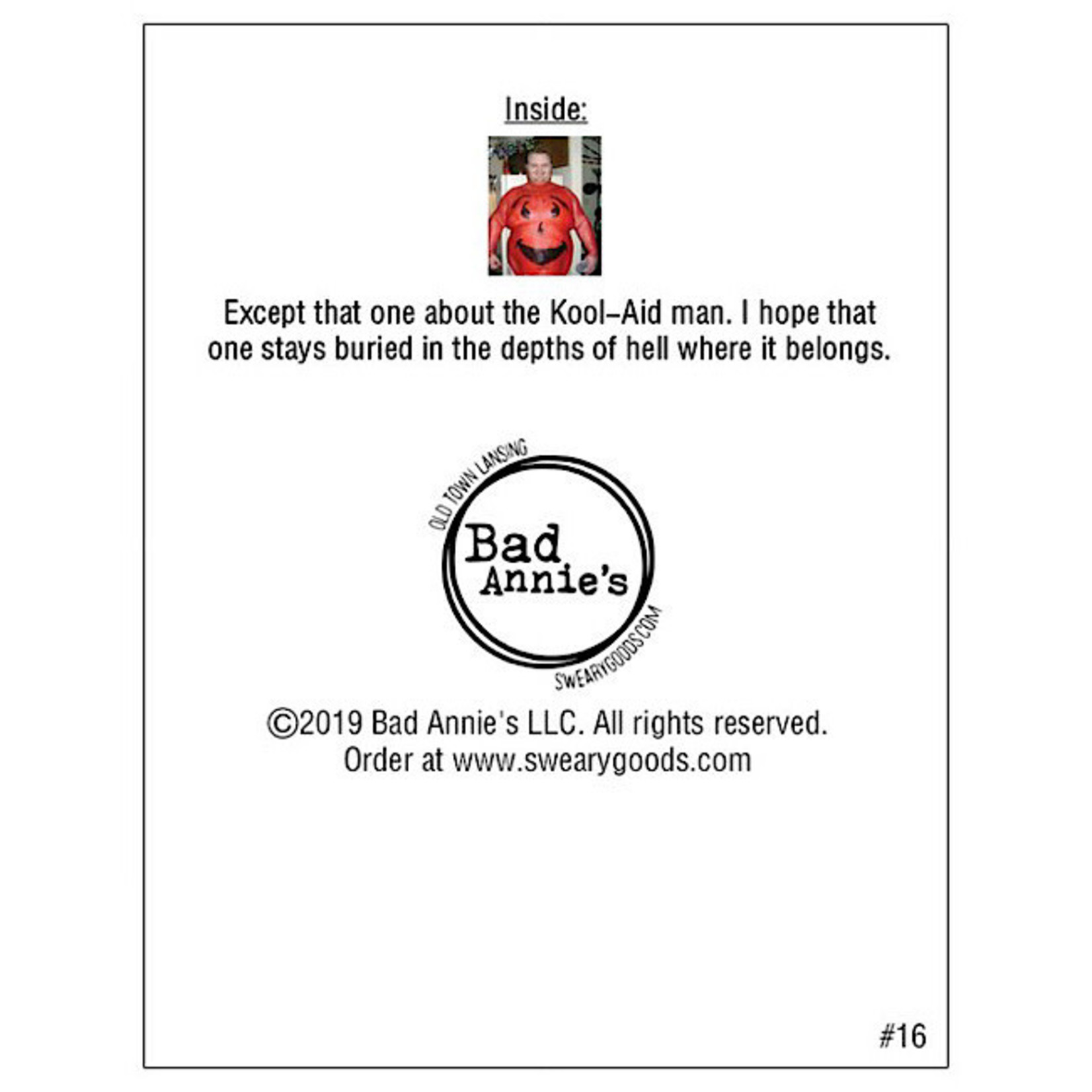 Bad Annie's Card #016 - Birthday Dreams Come True