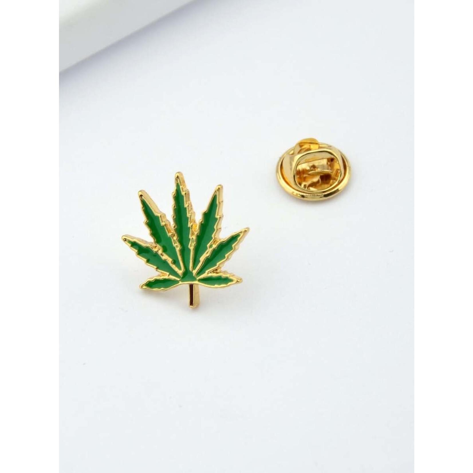 Pin - Pot Leaf - Weed