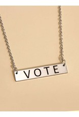 Necklace - Vote (Silver Bar)