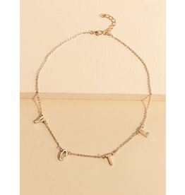 Shein Necklace - VOTE - (Rose Gold Tone)