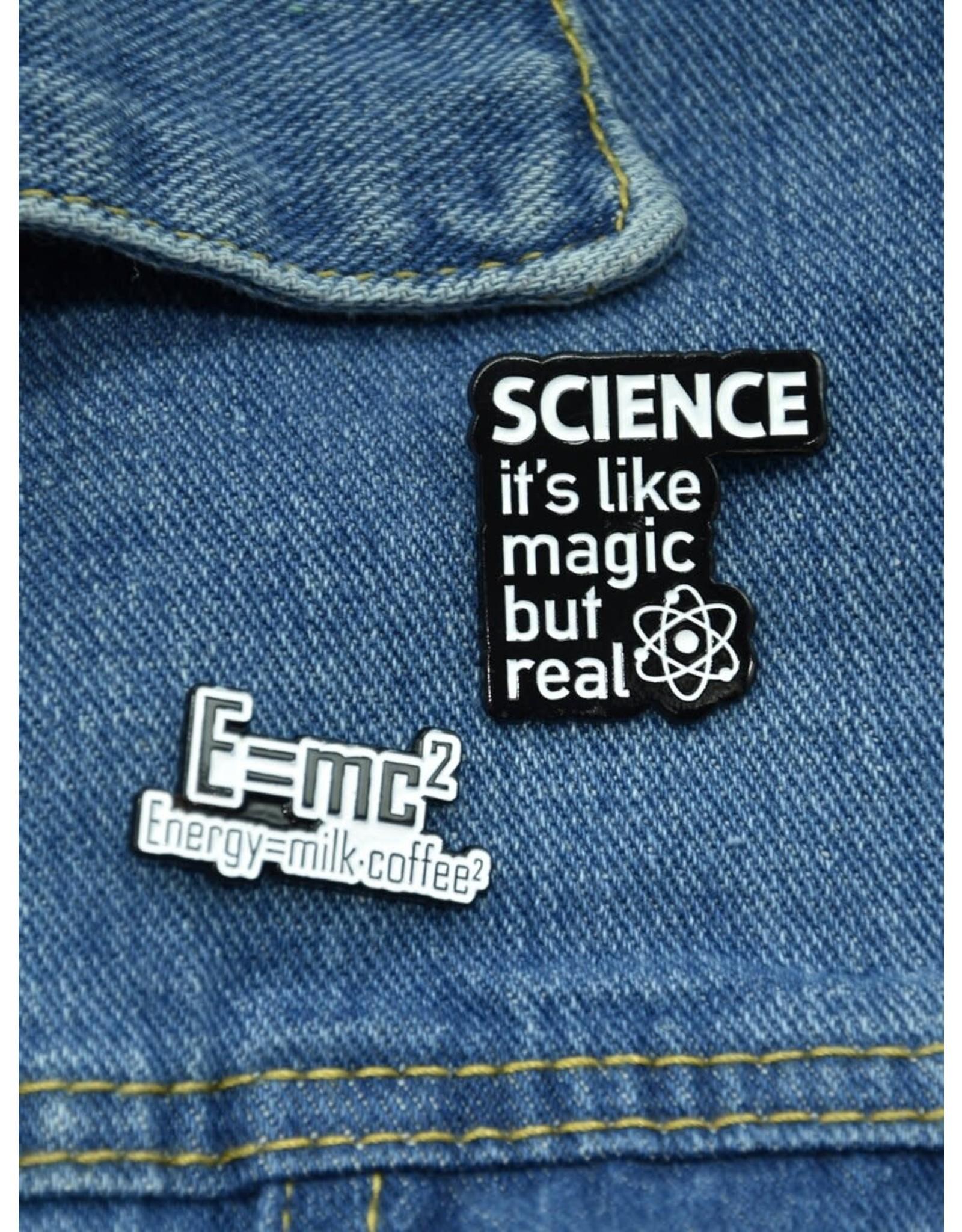 Shein Pin - 2 piece set - E = MC2 - SCIENCE: It's like magic but real