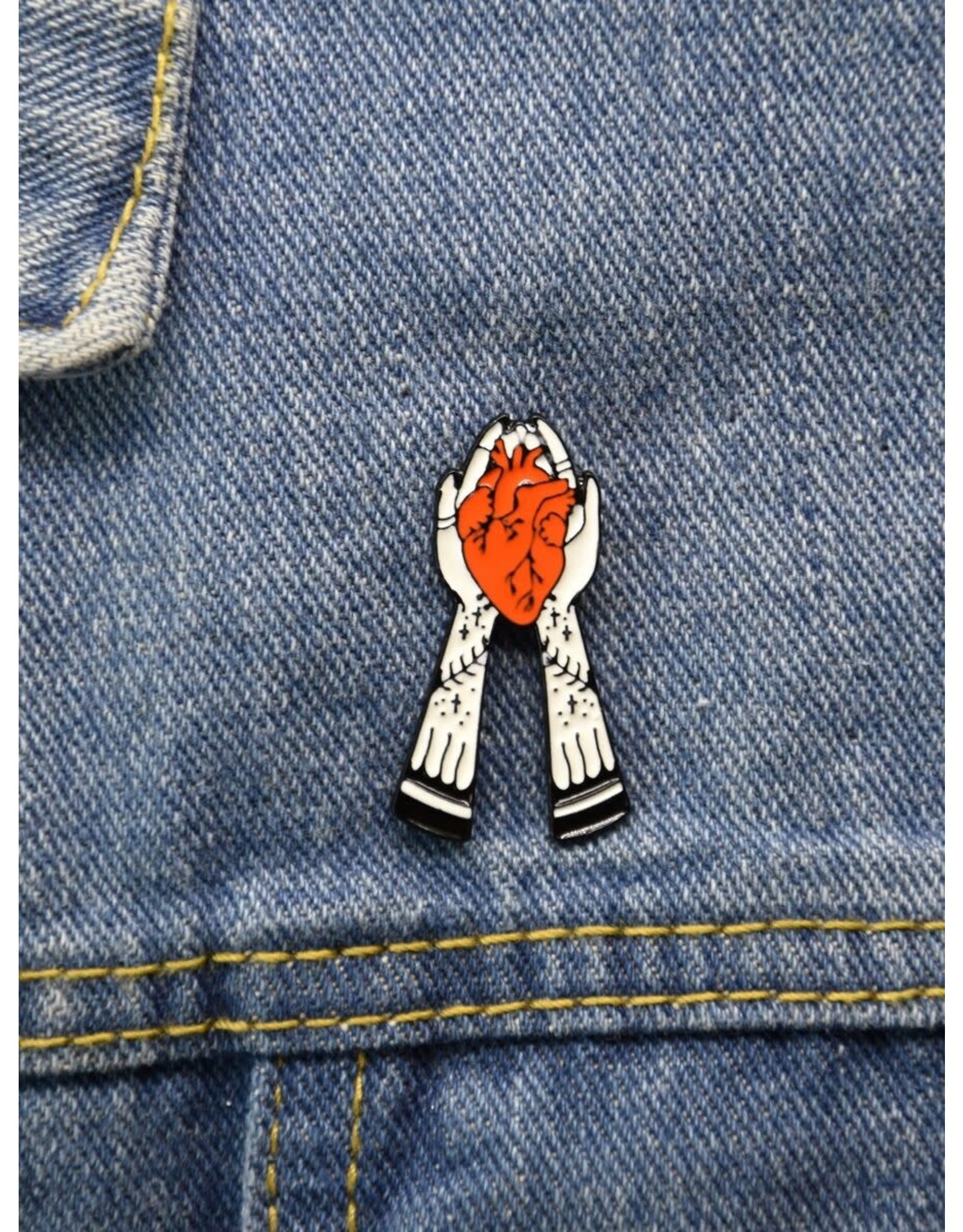 Shein Pin - Heart In Hands