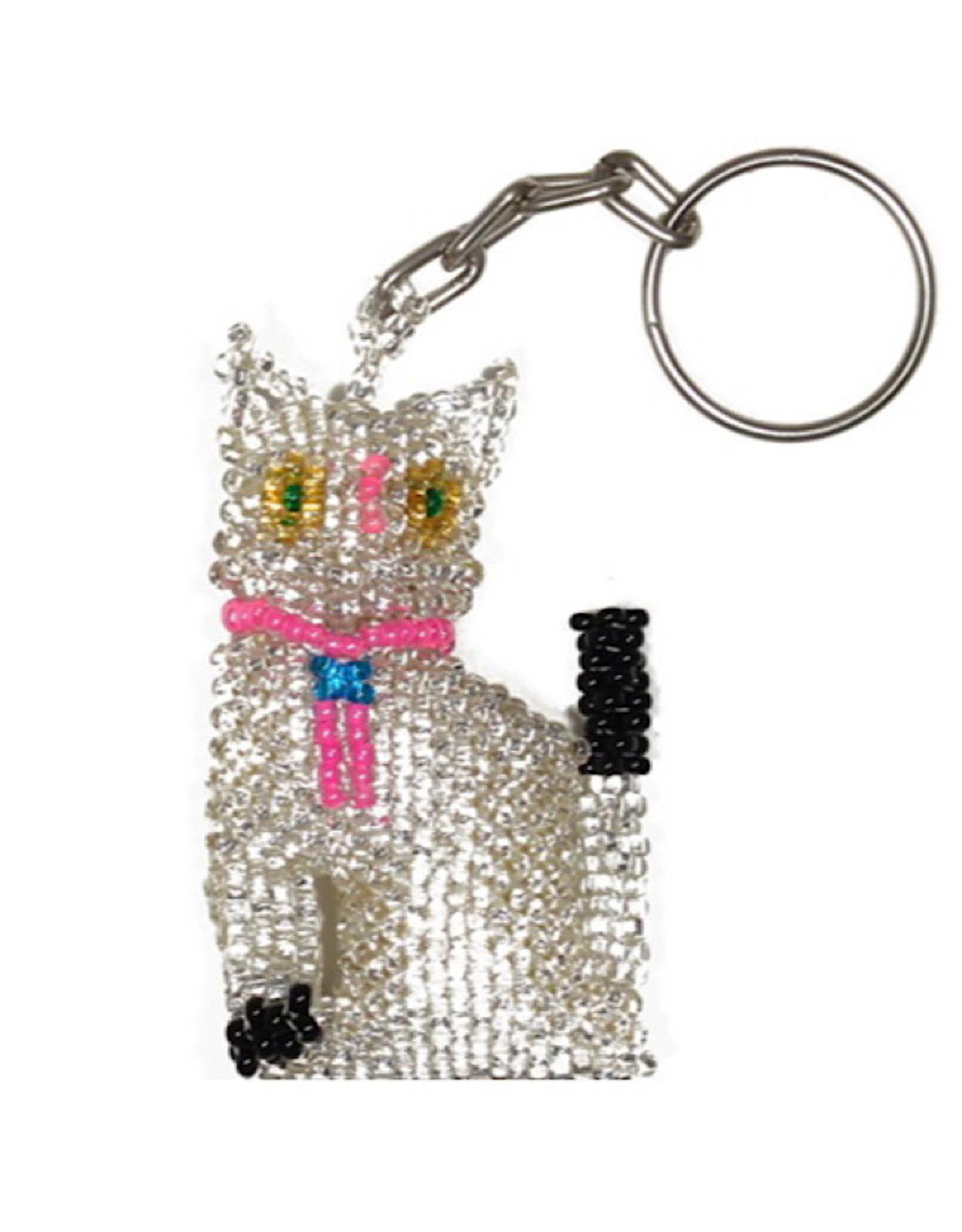 Keychain - Cat (White)