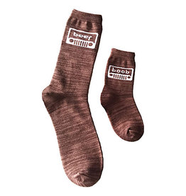 Socks(2 Pack)(Mens & Kids) - Beer, Boob