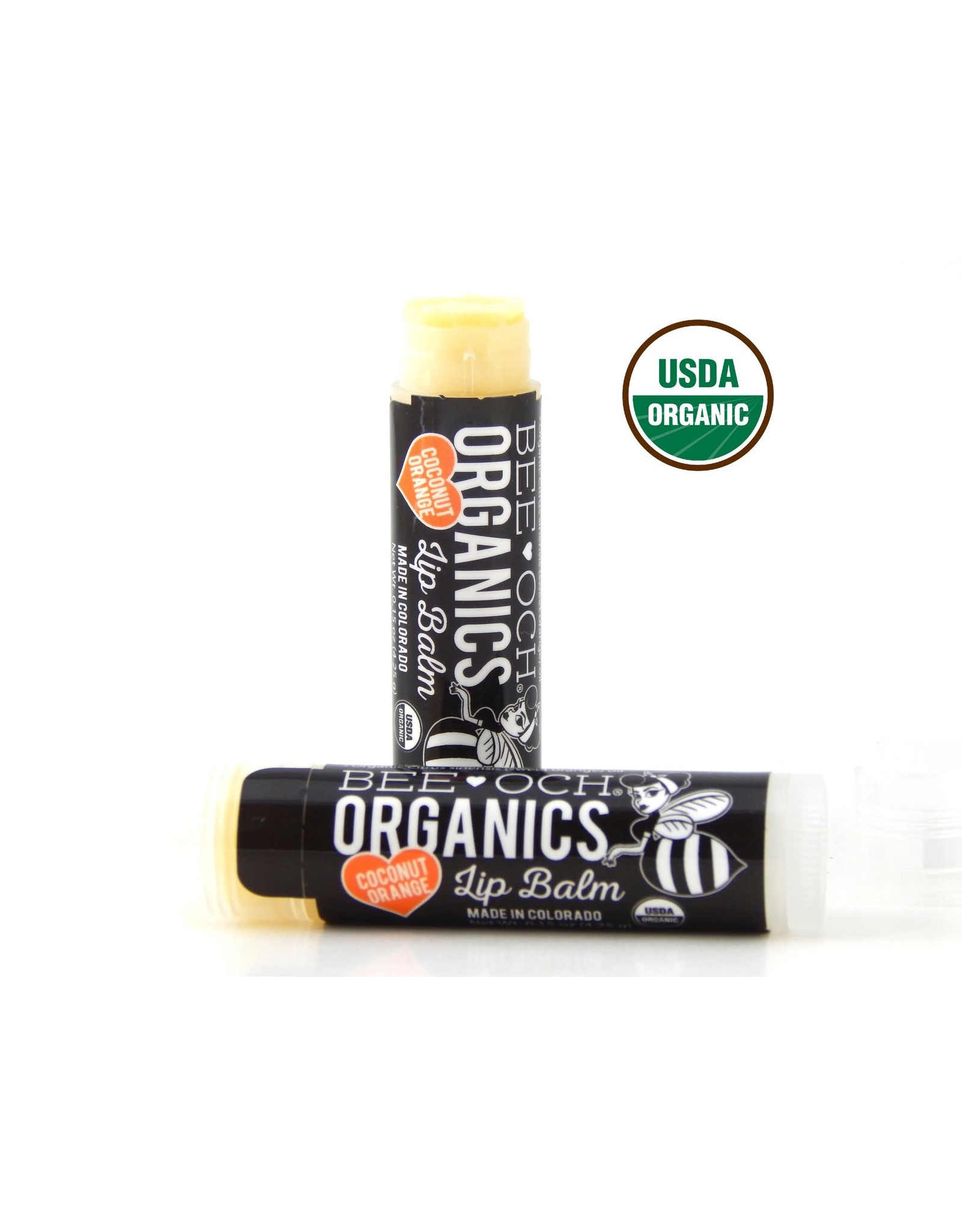 Bee Och Organics Lip Balm - Coconut Orange