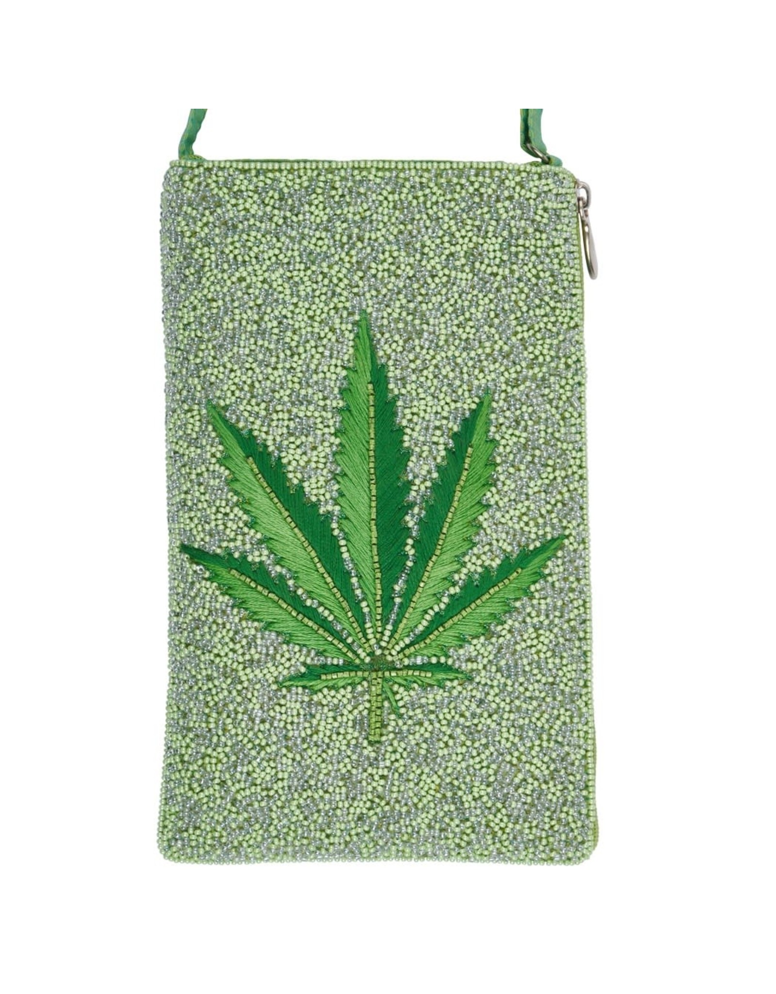 Purse - Pot Leaf - Weed (hand beaded)