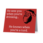 Bad Annie's Card (Holiday) (10 Pack) - He Knows When Youre A Turd