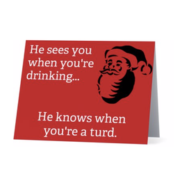 Card (Holiday) (10 Pack) - He Knows When Youre A Turd