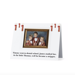 Card (Holiday) (10 Pack) - Bacon Family Portrait
