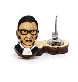 Unpossible Cuts Earrings - Ruth Bader Ginsburg