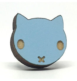 Unpossible Cuts Earrings - Blue Cat