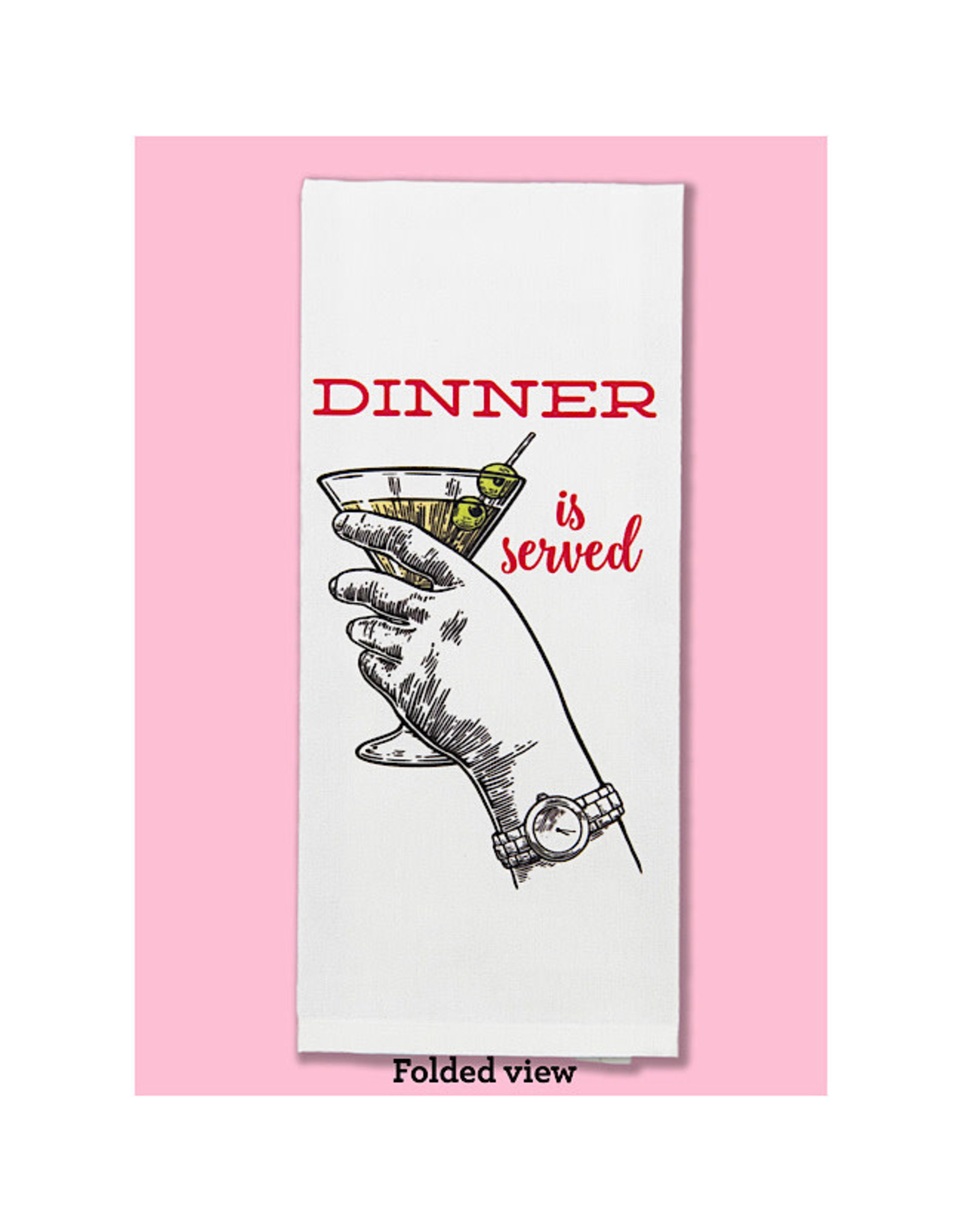 Dish Towel - Dinner Is Served