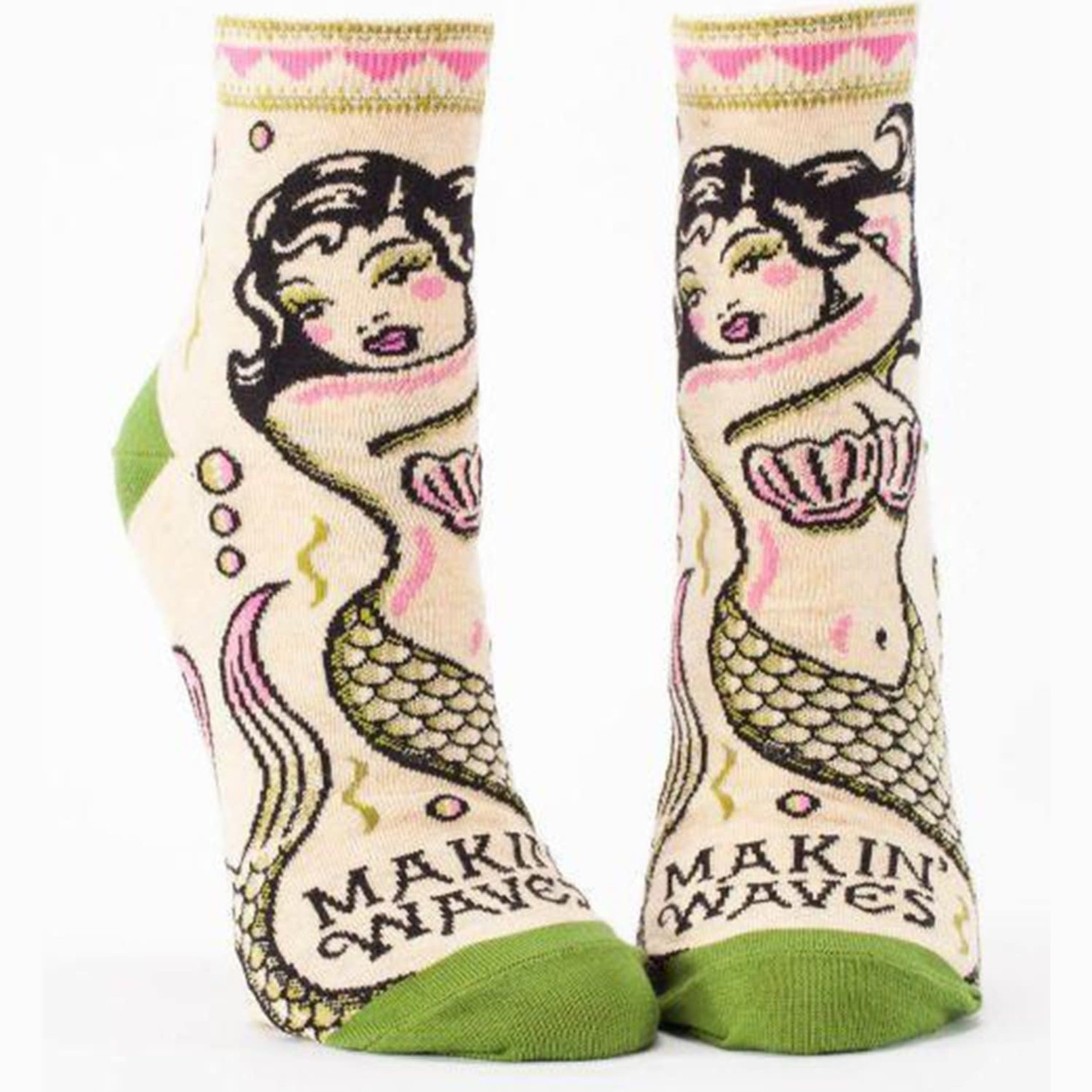 Socks (Womens) (Ankle) - Making Waves