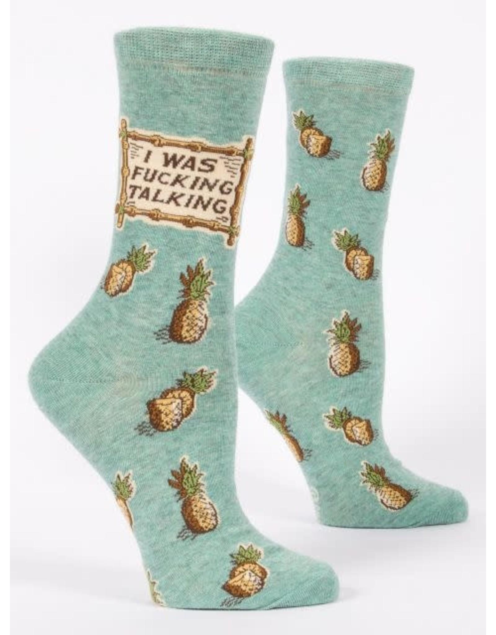 Socks (Womens) - I Was Fucking Talking